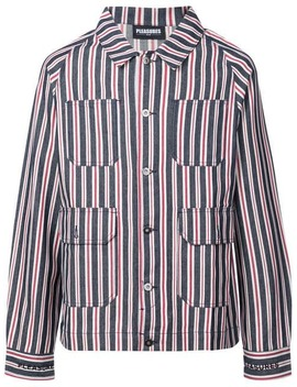 Striped Shirt Jacket by Pleasures