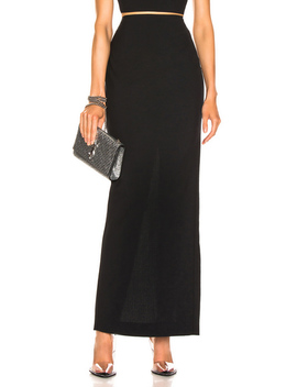 Washable Wool Long Skirt by T By Alexander Wang