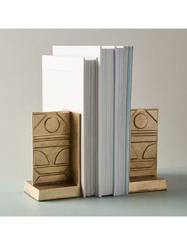 Pictograph Bookends by West Elm