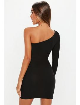 Black One Sleeve Mini Dress by Missguided