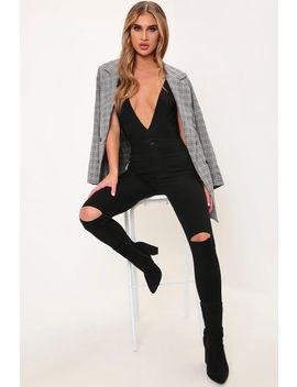 Black Slash Knee Skinny Jeans by I Saw It First