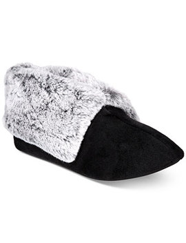 Plush Faux Fur Booties Slippers, Created For Macy's by Charter Club