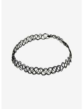 Black Basic Tattoo Choker by Hot Topic