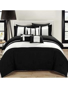 Chic Home 10 Piece Fiesta Bed In A Bag Comforter Set, King, Black by Chic Home