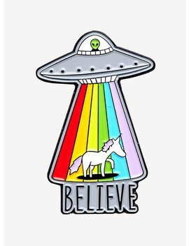 Ufo Unicorn Believe Enamel Pin by Hot Topic