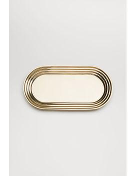 Ovales Metalltablett by H&M