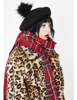 Rebel Intentions Plaid Scarf by Impulse Fashion Accessories