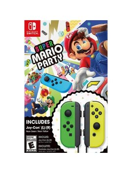 On™ Bundle   Nintendo Switch by Super Mario Party™ Neon Green/Neon Yellow Jo