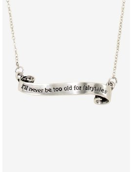 Never Too Old For Fairytales Scroll Necklace by Hot Topic
