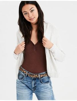 Ae Cinched Full Zip Hoodie by American Eagle Outfitters