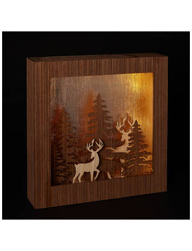 John Lewis & Partners Forest Scene Led Light Box, Copper by John Lewis & Partners