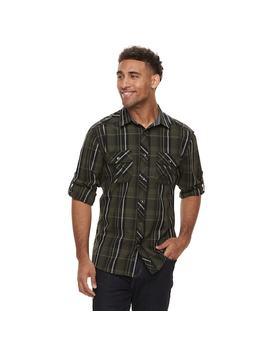 Men's Rock & Republic Plaid Woven Button Down Shirt by Kohl's