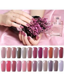 Clavuz Gel Nail Polish 24 Pcs Kits Soak Off Uv Led Nude Colour Varnish Manicure Nail Salon Set 8ml by Clavuz