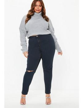 Plus Size Blue Vice High Waisted Skinny Jeans by Missguided