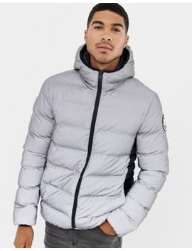 Good For Nothing Hooded Puffer Jacket In Reflective by Good For Nothing