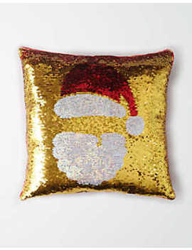 Capelli Sequin Santa Throw Pillow by American Eagle Outfitters