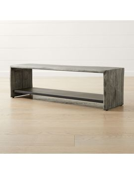 Yukon Grey Entryway Bench With Shelf by Crate&Barrel