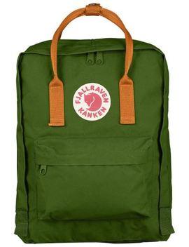 Fjallraven Classic Kanken Backpack In Leaf Green And Burnt Orange by Ebay Seller