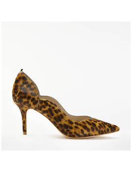 Boden Madison Stiletto Heeled Court Shoes, Leopard Leather by Boden