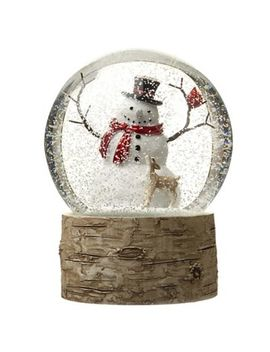 Heaven Sends   White Snowman Snow Globe Christmas Ornament by Heaven Sends