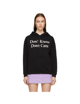 Black 'don't Know' Hoodie by Ashley Williams
