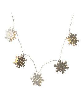 Heaven Sends   Wooden Snowflake Led Light Garland by Heaven Sends