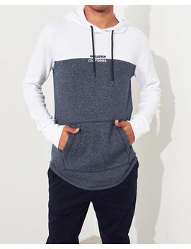 Colorblock Waffle Hooded T Shirt by Hollister