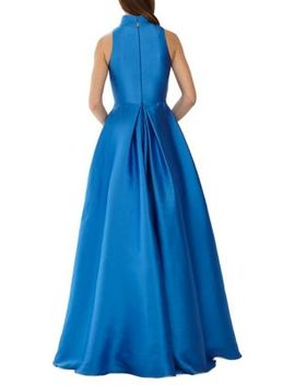 Collared Ball Gown by Ml Monique Lhuillier