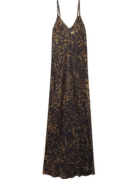 Grenelle Printed Satin Dress by Mes Demoiselles