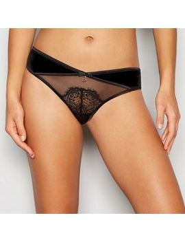 B By Ted Baker   Black Velvet Lace Brazilian Knickers by B By Ted Baker