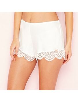 B By Ted Baker   Ivory 'tie The Knot' Lace Pyjama Shorts by B By Ted Baker