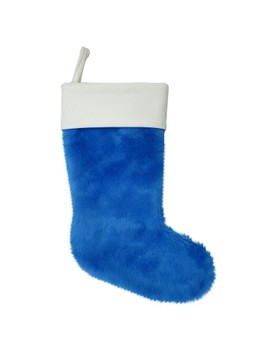 Plush Faux Fur Christmas Stocking   Wondershop™ by Shop This Collection
