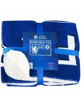 Luxury Chelsea Fc Fleece Sherpa Blanket by Chelsea