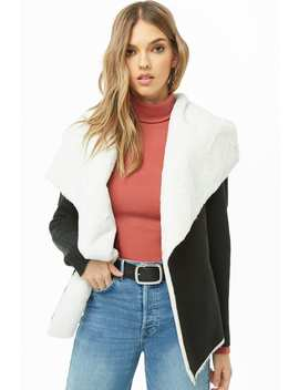 Faux Suede & Fur Cardigan by Forever 21