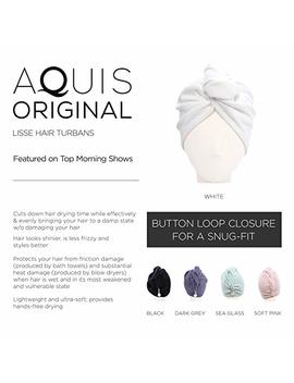 Aquis   Original Hair Turban, Patented Perfect Hands Free Microfiber Hair Drying, Soft Pink (10 X 26 Inches) by Aquis