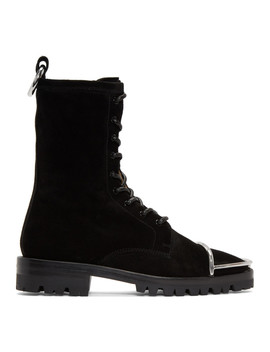 Black Suede Kennah Boots by Alexander Wang