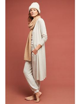 Brushed Fleece Longline Cardigan by Beyond Yoga