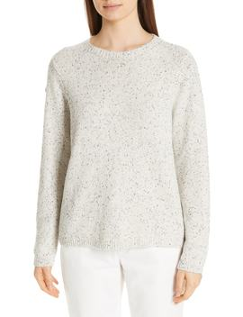 Fleck Crew Sweater by Eileen Fisher