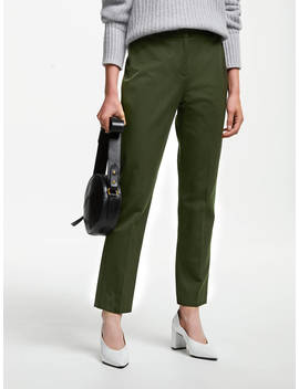 John Lewis & Partners Dionne Trousers, Khaki by John Lewis & Partners