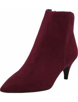 Cambridge Select Women's Closed Pointed Toe Low Kitten Heel Ankle Bootie by Cambridge Select