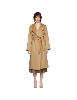 Tan Manuela Coat by Max Mara