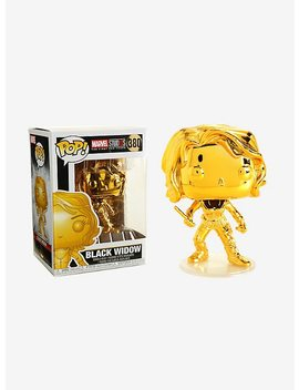 Funko Marvel Studios The First Ten Years Pop! Gold Chrome Black Widow Bobble Head by Hot Topic