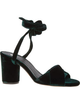 Forest Green Heeled Sandals by Hudson