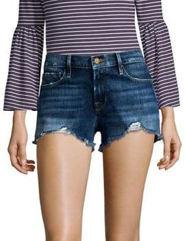 Le Cutoff Distressed Denim Shorts by Frame