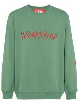Green Embroidered Sweatshirt by 032 C