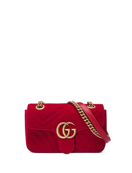 Gg Marmont Mini Velvet Bag by Gucci