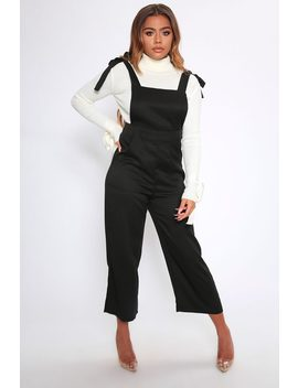 Black Tie Shoulder Dungarees by I Saw It First