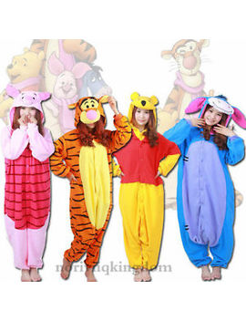 Hallowmas Outfits Cosplay Costume Winnie Tigger Piglet Eeyore Kigurumi Pyjamas by Ebay Seller