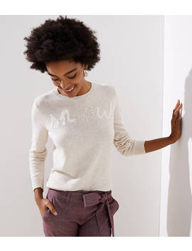Snow Beaded Sweater by Loft