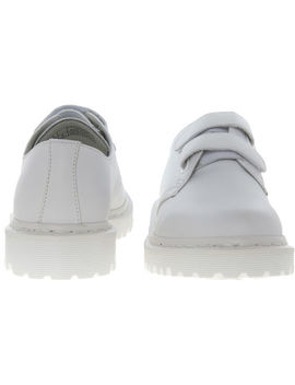 White Leather Laureen Shoes by Dr Martens